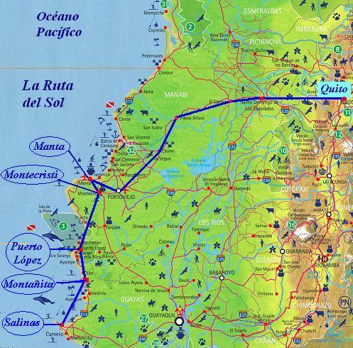 Turismo Ecuador Ruta Del Sol Ruta Del Sol